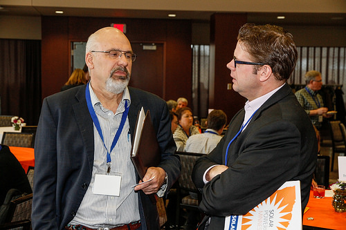 Attendees Connecting Jim Pearson Of Xcel Energy Solar